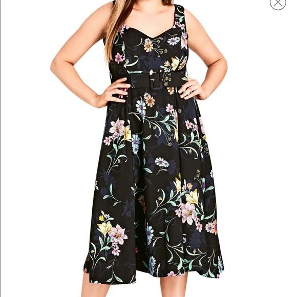 City Chic Dresses & Skirts - City Chic Floral A Line Dress